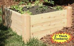 "2'x4'-16"" high Cedar Raised Garden Bed Kit by Marleywood"