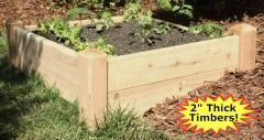 "2'x4'x11"" high Cedar Raised Garden Bed by Marleywood"