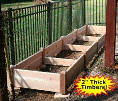 """4'x16'x11"""" high Cedar Raised Garden Bed by Marleywood"""