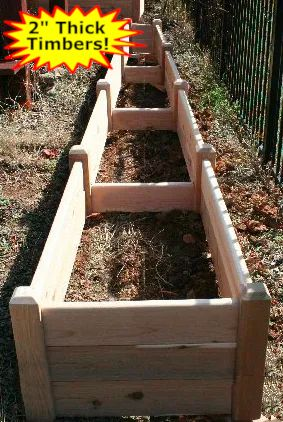 "2'x16'x16"" high Cedar Raised Garden Bed by Marleywood"