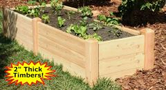 "2'x8'x16"" high Cedar Raised Garden Bed by Marleywood"