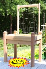 Elevated Planter 2' x 4' with 4' wide x 4' high Trellis by Marleywood