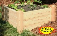 "4'x4'x16"" high Cedar Raised Garden Bed by Marleywood"