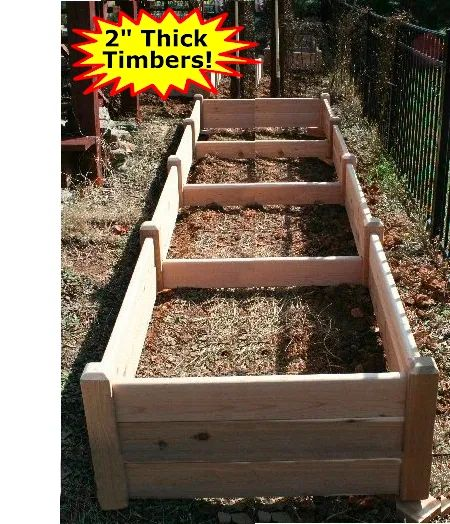 "4'x16'x16"" high Cedar Raised Garden Bed by Marleywood"