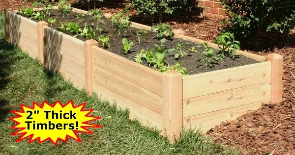 "4'x12'x16"" high Cedar Raised Garden Bed by Marleywood"