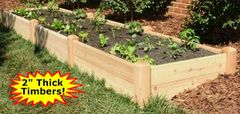 "4'x12'x11"" high Cedar Raised Garden Bed by Marleywood"