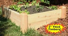 "4'x4'x11"" high Cedar Raised Garden Bed by Marleywood"