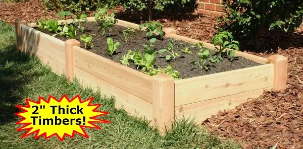 "4'x8'x11"" high Cedar Raised Garden Bed by Marleywood"