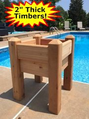 """Marleywood Elevated Patio Planter - 2' x 2' with 37"""" posts"""