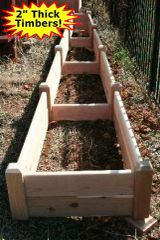 "2'x16'x11"" high Cedar Raised Garden Bed by Marleywood"