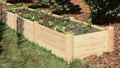 """2'x12' - 16"""" high Cedar Raised Garden Bed by Marleywood"""