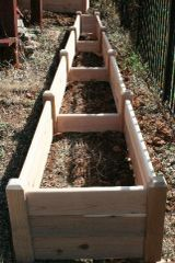 "2'x16' - 16"" high Cedar Raised Garden Bed by Marleywood"