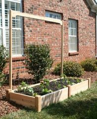 8' long x 7' high Cedar Trellis kit for Raised Garden Bed by Marleywood
