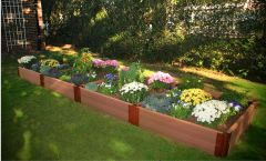 Frame It All Composite Raised Garden Kit 4ft. X 16ft. X 11in. Rectangle (2 inch profile)