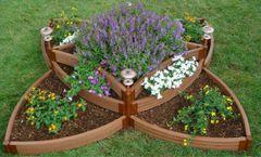 Frame It All Composite Raised Garden 96in. X 96in. X 16.5in. Versailles Sunburst (2 inch profile)