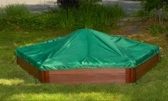 Composite Sandbox Kit 7ft. X 8ft. X 11in. Hexagon with Cover (2 inch profile)