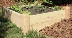"4'x4' - 11"" high Cedar Raised Garden Bed by Marleywood"
