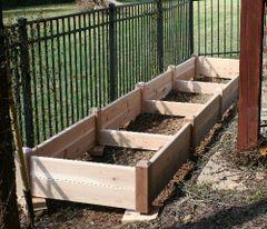 """4'x16' - 11"""" high Cedar Raised Garden Bed by Marleywood"""