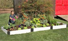 "Frame It All Composite Raised Bed Garden - 4'x12'x8"" - White"