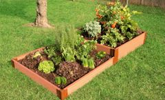 """Frame It All Raised Garden Bed Terraced 4' x 8' x 11"""" – 2"""" profile - Classic Sienna"""