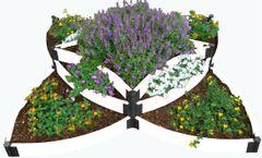 "Frame It All Raised Garden Bed Versailles Sunburst 8' x 8' x 24"" - Classic White"