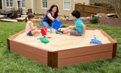 Frame It All Composite Sandbox Kit 7ft. X 8ft. X 11in. Hexagon (2 inch profile)