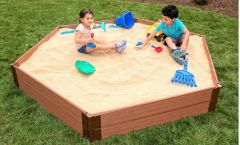 Frame-It-All Composite Sandbox 7ft. X 8ft. X 11in. Hexagon (1 inch profile)