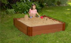 Frame-It-All Composite Sandbox 4ft. X 4ft. X 11in. Square (2 inch profile)