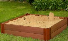Frame-It-All Composite Sandbox Kit Square 1in 4x4ft 2 Level c/w Collapsible Cover