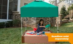 Frame-It-All Telescoping Square Sandbox Canopy & Cover