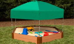Frame It All Composite Hexagon Sandbox Kit 7ft. X 8ft. X 11in. (2 inch profile)
