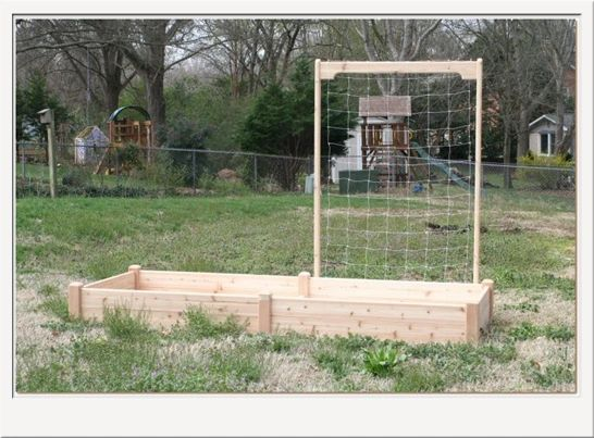 4'long x 7'high Cedar Trellis for Raised Garden Bed by Marleywood