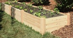 "4'x12' - 16"" high Cedar Raised Garden Bed by Marleywood"