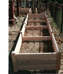 "4'x16' - 16"" high Cedar Raised Garden Bed by Marleywood"