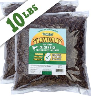 Sunworms (Dried Black Soldier Fly Larvae)- 10 lbs( 2 x 5 lbs)