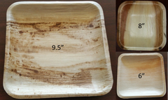 B2C_Square Combo - Shrink pack quantities of 25 (9.5 Inch Square Plate, 8 Inch Square Bowl, and 6 Inch Square Plate each)