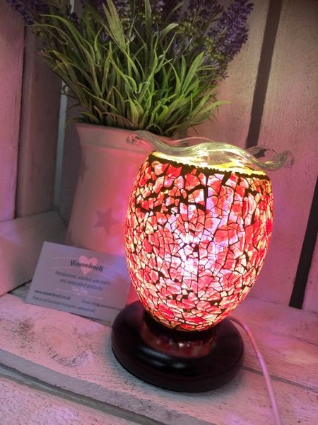 SMALL RED POPPY FLORAL DIMMABLE ELECTRIC BURNER