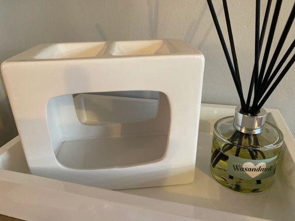 Talin Deluxe Double Ceramic Wax Burner