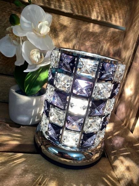 BLACK AND CLEAR CRYSTAL TOUCH BURNER