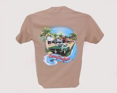 Green Mustang Tee - Sand
