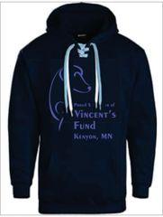 Vincent Fund Lace Tie Hoodie