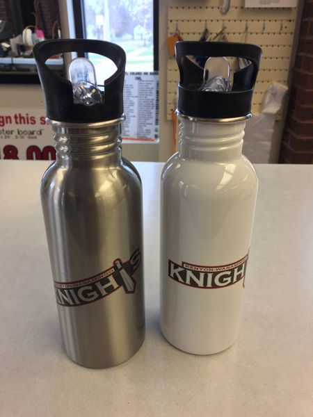 KW Knight's stainless steel water bottle