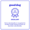 Good Dog Excellent Rating Badge