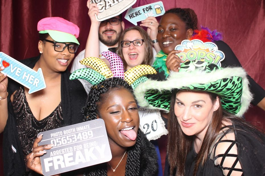Having fun at photo booth party! Snap A Selfie Photo Booth Rentals