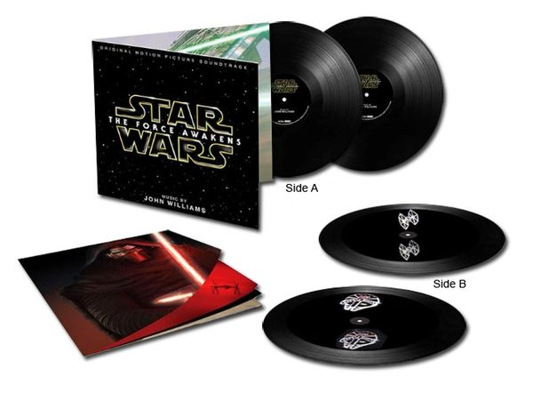JOHN WILLIAMS STAR WARS: THE FORCE AWAKENS SOUNDTRACK DIRECT METAL MASTER 180G 2LP (3D HOLOGRAPHIC VERSION)