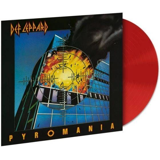 DEF LEPPARD PYROMANIA 180G LIMITED EDITION OPAQUE RED LP