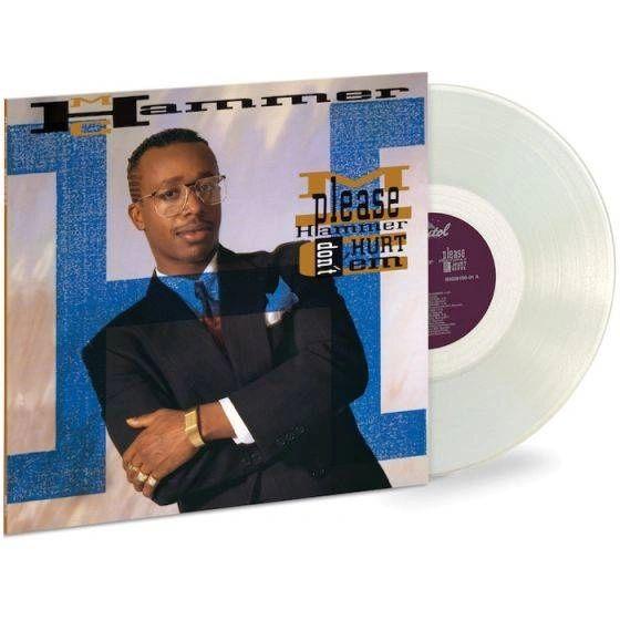 MC HAMMER - PLEASE HAMMER DON'T HURT EM LIMITED EDITION DIAMOND CLEAR LP