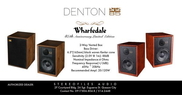 WHARFEDALE DENTON 85 BOOKSHELF SPEAKERS
