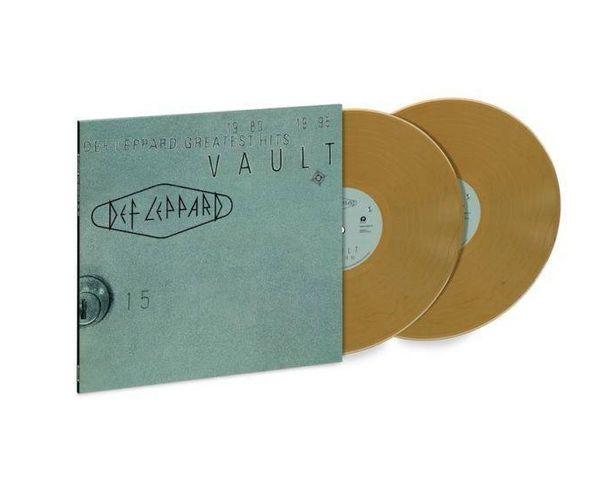 DEF LEPPARD VAULT: DEF LEPPARD GREATEST HITS 1980-95 2LP METTALIC GOLD