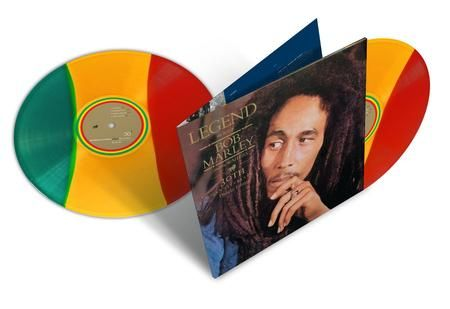 BOB MARLEY & THE WAILERS LEGEND THE BEST OF BOB MARLEY TRI COLOR LP